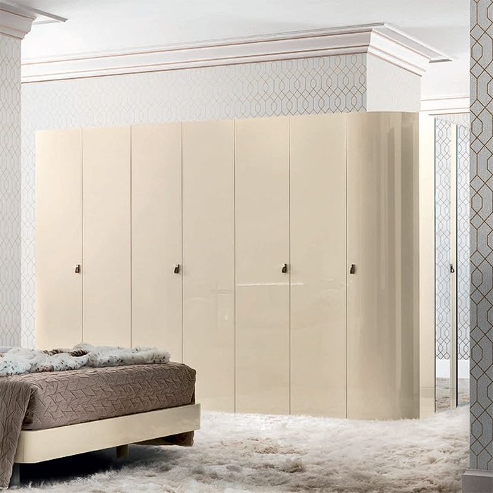 Well Known Cream Gloss Wardrobes In Alegro Cream High Gloss Non Mirrored Wardrobe (Various Sizes (View 14 of 15)