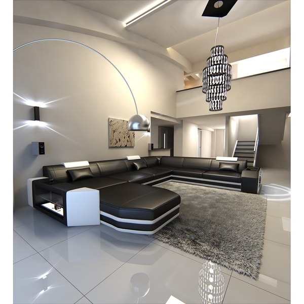 Well Known Dallas Sectional Sofas Pertaining To Modern U Shaped Sectional  Sofa Dallas Xxl With Led