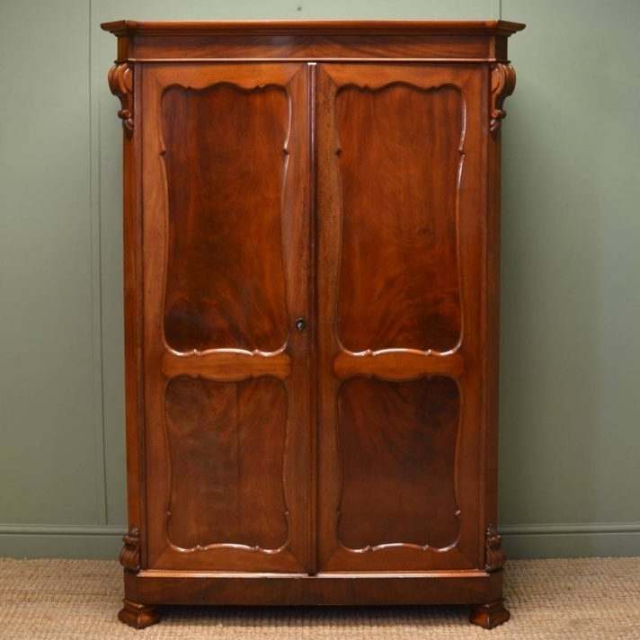 Well Known Dark Wood Wardrobes With Drawers Pertaining To Solid Dark Wood Wardrobes For Sale White Wardrobe With Drawers You (View 3 of 15)