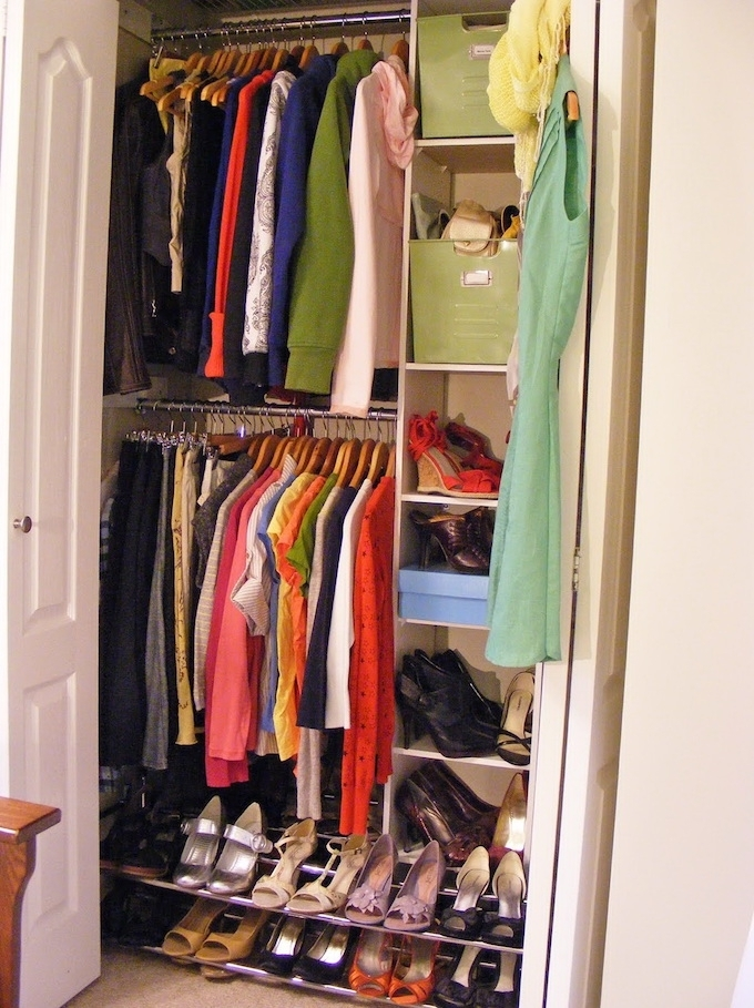 Well Known Double Rail Wardrobes Intended For 21 Brilliant Hacks For Your Tiny Wardrobe – Expert Home Tips (View 12 of 15)