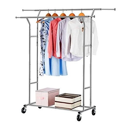 Well Known Double Up Wardrobes Rails With Amazon: Langria Double Rail Garment Racks Clothes Racks (View 13 of 15)