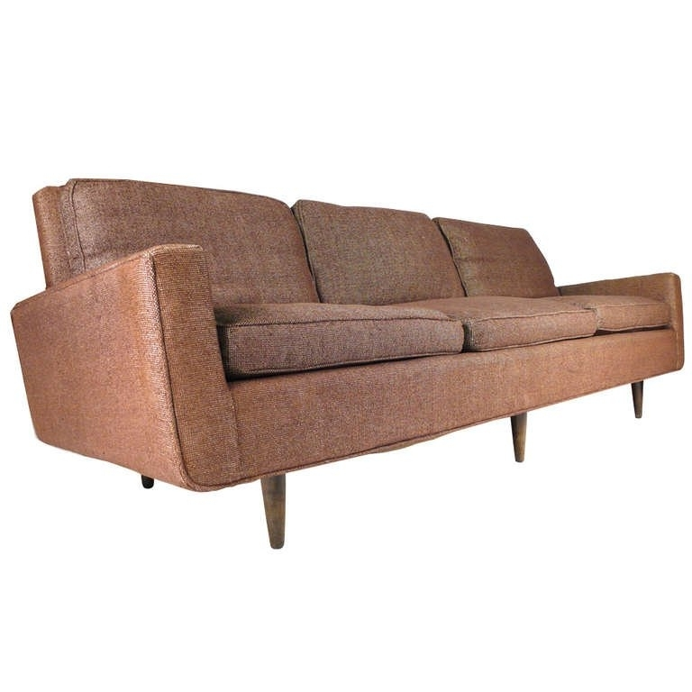 Well Known Early Florence Knoll Down Filled Sofa For Sale At 1Stdibs Within Florence Knoll Wood Legs Sofas (View 10 of 10)