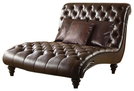 Well Known Emerald Home Furnishings – Hutton Ii Chaise Nailhead With Kidney In Accent Chaises (View 8 of 15)