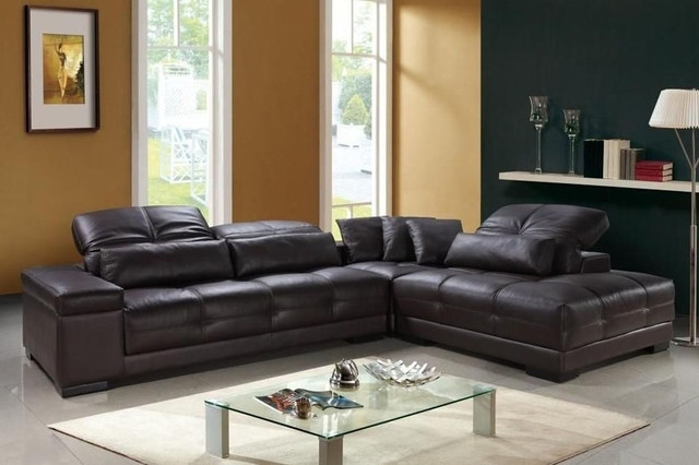 Well Known Genuine Leather Sectionals With Chaise For Sectional Sofa Design: Amazing Real Leather Sectional Sofa Real (View 14 of 15)