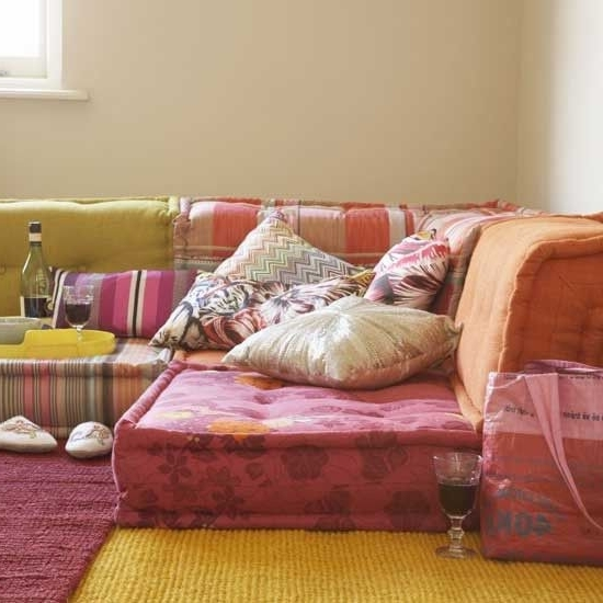 Well Known Get The Look: Bohemian Floor Cushions (View 9 of 10)