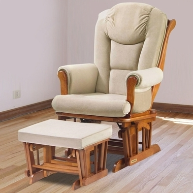 Well Known Gliders With Ottoman For Shermag Glider & Ottoman Set In Chestnut With Beige Oatmeal (View 4 of 10)