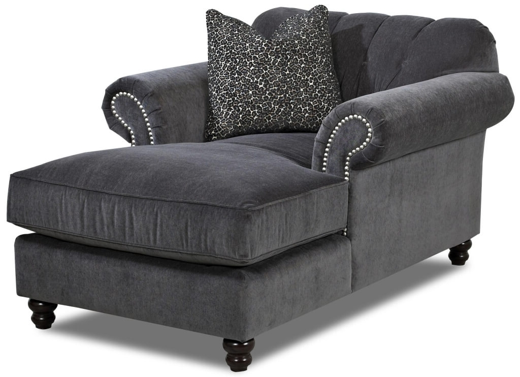 Well Known Gray Chaise Lounges Intended For Furniture: Gray Tufted Chaise And Tufted Chaise Armchair – Tufted (View 14 of 15)