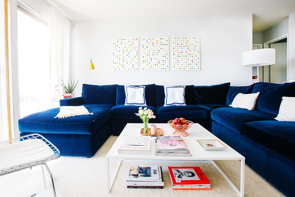 Well Known Houzz Sectional Sofas Throughout Small Sectional Sofa Living Room Transitional With My Houzz Blue (View 9 of 10)