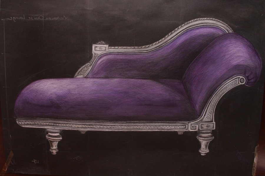 Well Known How To Decorate A Victorian Chaise Lounge – Home Design And Decor Pertaining To Purple Chaises (View 14 of 15)