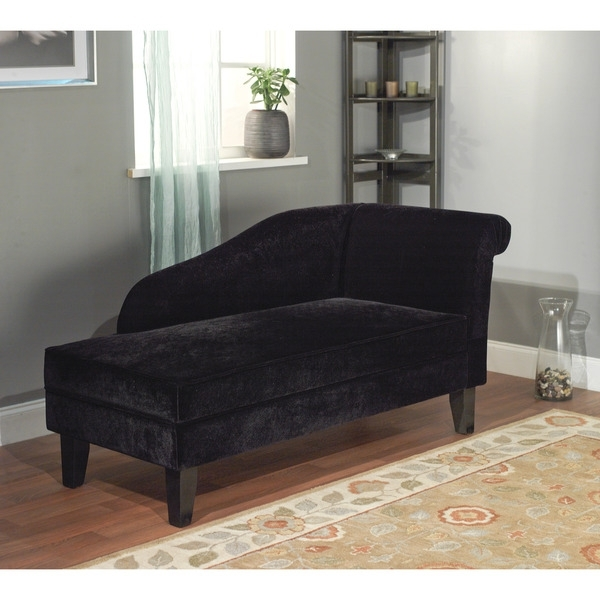 Well Known Incredible Black Chaise Lounge Simple Living Milan Microfiber Pertaining To Microfiber Chaise Lounges (View 15 of 15)