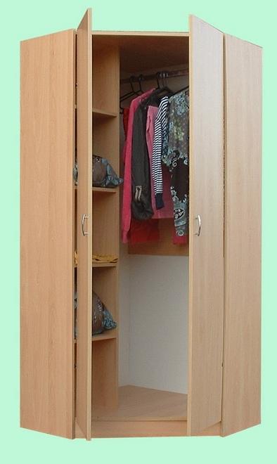 Well Known Junita 2 Door Corner Wardrobe – M2090 Beech & White Pertaining To 2 Door Corner Wardrobes (View 15 of 15)