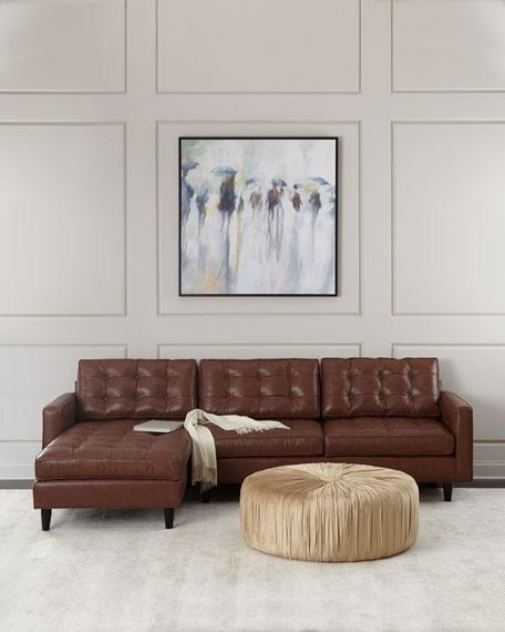 Well Known Leather Chaise Sectionals With Regard To Leather Tufted Chaise Sectional (View 11 of 15)