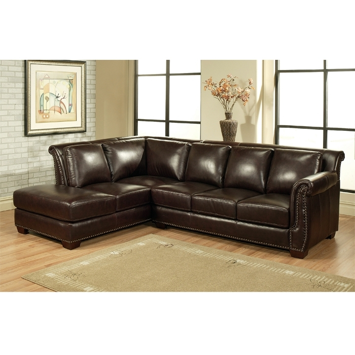 Well Known Leather Chaise Sectionals Within Top Leather Sectional Sofa Chaise Leather Sofa With Chaise Lounge (View 12 of 15)