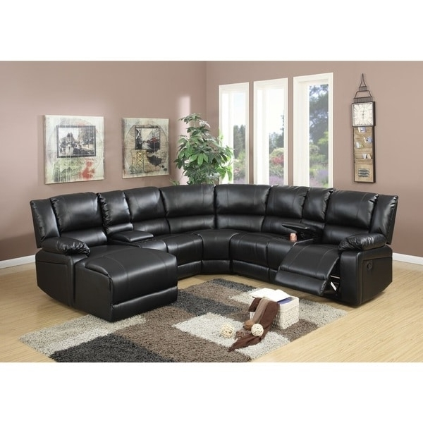 Well Known Leather Motion Sectional Sofas With Segudet Bonded Leather Motion Sectional Sofa – Free Shipping Today (View 8 of 10)