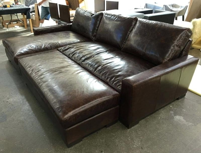 Well Known Leather Sectionals With Chaise And Ottoman For Maxwell Leather Chair Sofa Chaise Sectional With Custom Leather (View 9 of 10)