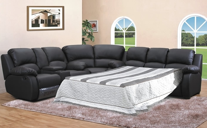 Well Known Leather Sleeper Sectional Sofa Bed Photo Sectional Couch With Bed Pertaining To Sectional Sofas With Sleeper (View 9 of 10)