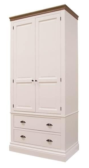 Well Known Lundy Painted Bedroom Lundy Tall Double Wardrobe With Drawers Within White Double Wardrobes With Drawers (View 12 of 15)