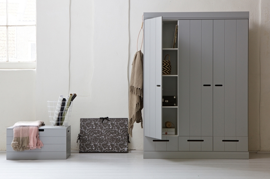 Well Known Manhattan Grey 3 Door Wardrobe With Regard To Grey Wardrobes (View 13 of 15)