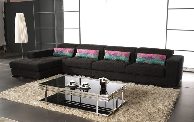 Well Known Modern Microfiber Sectional Sofas For Contemporary Microfiber Sectional Sofa – Cynthia Ajill (View 9 of 10)
