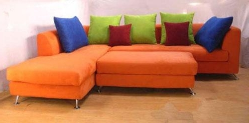 Well Known Orange Sectional Sofas Intended For Orange Sectional Sofa – Betterimprovement (View 10 of 10)