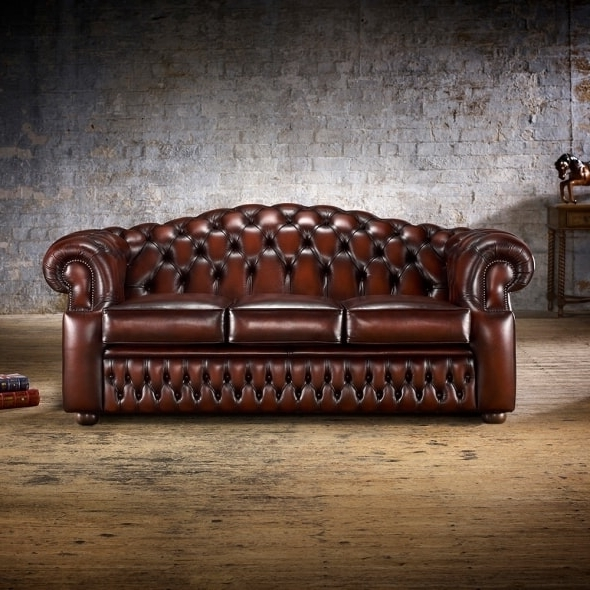 Well Known Oxford Sofas Within Oxford 3 Seater Sofa – From Timeless Chesterfields Uk (View 9 of 10)