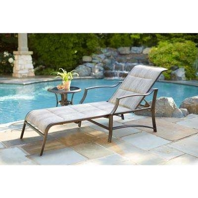 Well Known Reclining – Outdoor Chaise Lounges – Patio Chairs – The Home Depot Intended For Chaise Lounge Chairs Under $ (View 14 of 15)