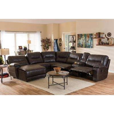Well Known Reclining – Sectionals – Living Room Furniture – The Home Depot With Regard To Home Depot Sectional Sofas (View 9 of 10)