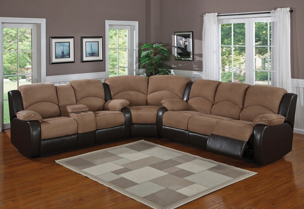 Well Known Reclining Sectionals With Chaise Throughout Sectional Sofa Design: Wonderful Recliner Sectional Sofa Leather (View 13 of 15)