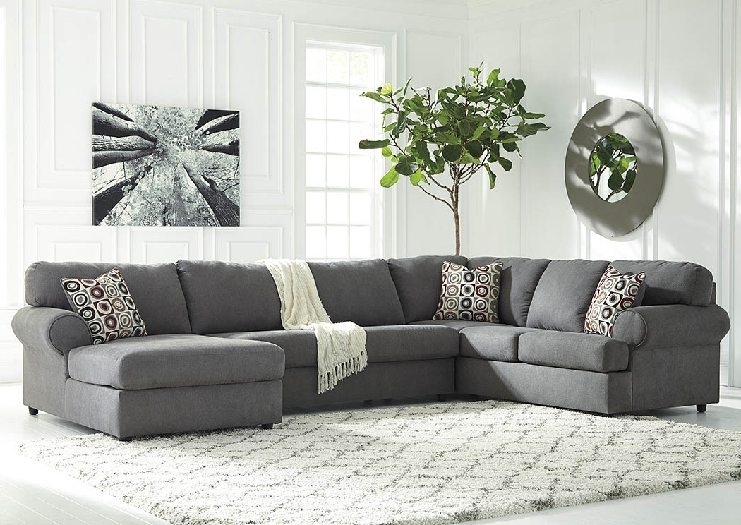 Well Known Right Facing Chaise Sectionals Within Sweet Dreams Bedding & Furniture Jayceon Steel Extended Right (View 13 of 15)
