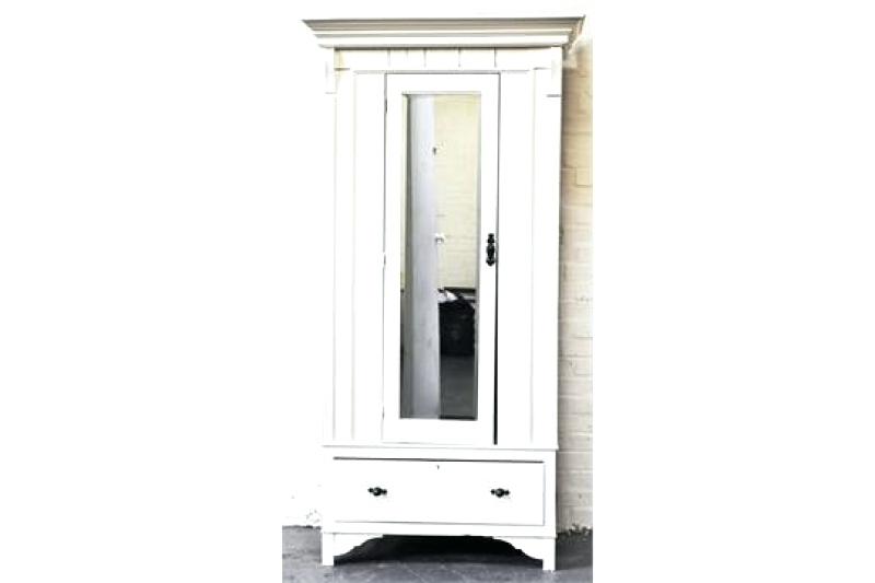 Well Known Single White Wardrobes With Mirror With Wardrobes ~ A27999 Core Products Quebec Wooden 1 Door 2 Drawer (View 4 of 15)