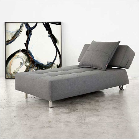 Well Known Sleeper Chaises With Longhorn – Sleeper Chaise In Black Eco Leather 1,348 $ (View 13 of 15)