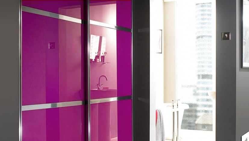 Well Known Sliding Glass Doors: Stylish Glass Wardrobe Doors Intended For Coloured Wardrobes (View 15 of 15)