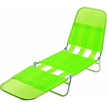 Well Known Steel Pvc Jelly Folding Chaise Lounge: Amazon (View 15 of 15)