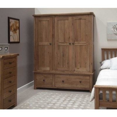 Well Known Triple Wardrobe – Solid Wood Triple Wardrobes Online With Triple Oak Wardrobes (View 15 of 15)