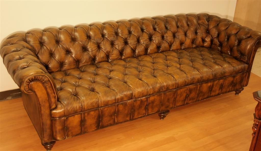 Well Known Tufted Leather Chesterfield Sofas For Tufted Leather Chesterfield Sofa – Home And Textiles (View 10 of 10)