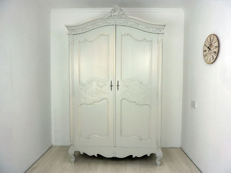 Well Known Vintage French Wardrobes With French Antique Carved Armoire Painted Vintage, Antique & Farmhouse (View 15 of 15)