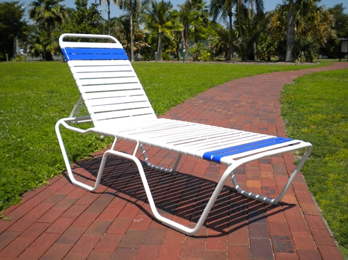 Well Known Vinyl Strap Chaise Lounge Chairs With American Pool & Patio Furniture (View 6 of 15)