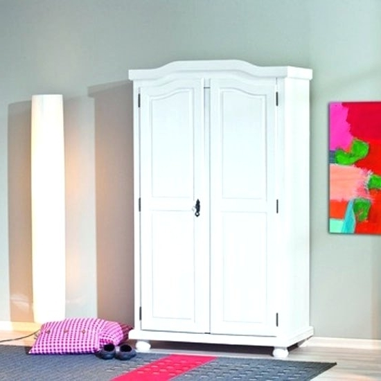 Well Known Wardrobes ~ White Painted Solid Wood Wardrobe Solid Wood White Regarding White Wood Wardrobes (View 12 of 15)