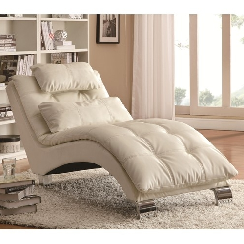 Well Known White Leather Chaise Lounges For White Leather Chaise Lounge – Steal A Sofa Furniture Outlet Los (View 11 of 15)