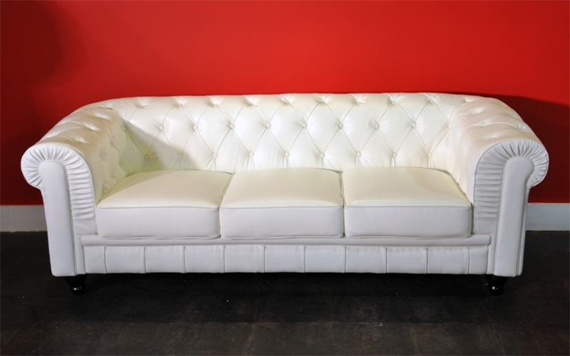 Well Known White Leather Sofas Inside Nice Leather White Sofa Rich Look White Leather Sofa (View 9 of 10)