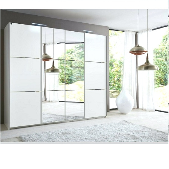Well Known White Mirrored Wardrobes Pertaining To Wardrobes ~ White Mirrored Sliding Wardrobe Door Basix Kit White (View 9 of 15)