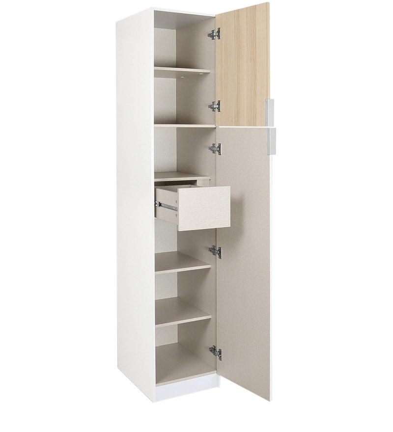 Well Known White Single Door Wardrobes With Buy Fusion Single Door Wardrobe In White Colour@ Home Online (View 5 of 15)