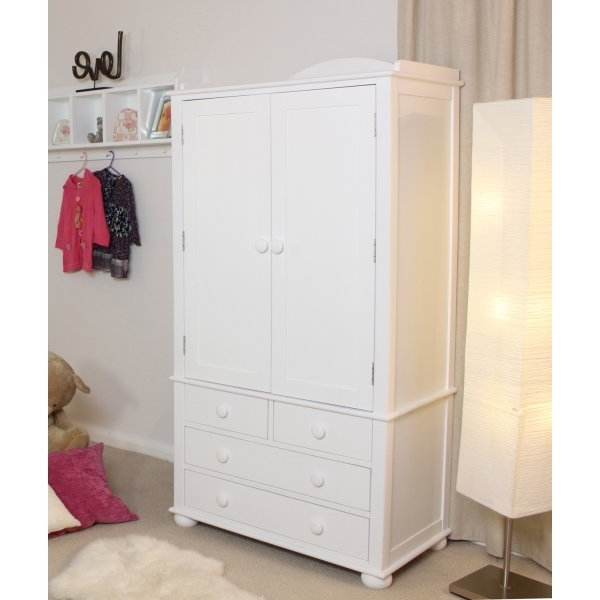 Well Known White Wardrobes With Drawers With Baumhaus Nutkin White Double Wardrobe With Drawers – Baumhaus From (View 13 of 15)