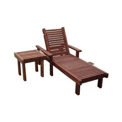 Well Known Wood – Outdoor Chaise Lounges – Patio Chairs – The Home Depot With Wooden Chaise Lounges (View 7 of 15)