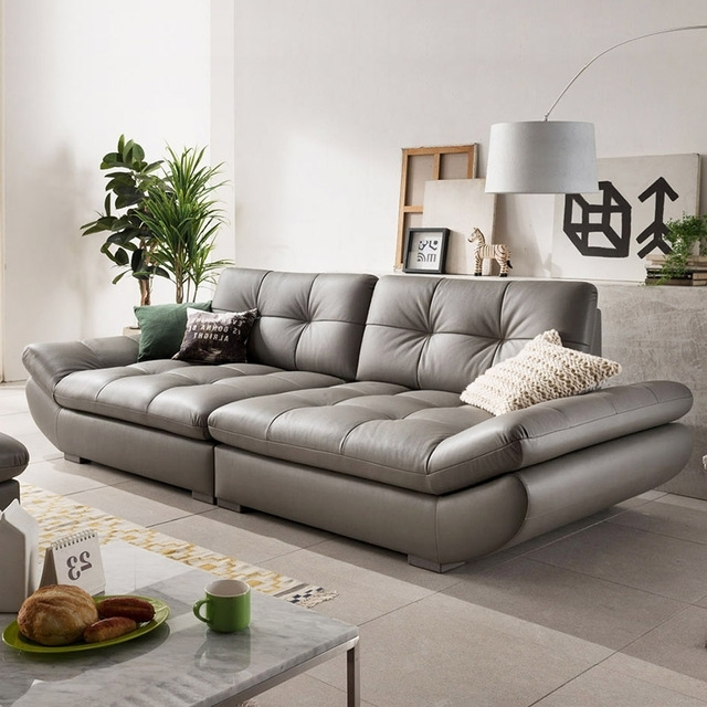 Well Liked 4 Seat Leather Sofas In Genuine Leather Sofa Sectional Living Room Sofa Corner Home (View 10 of 10)