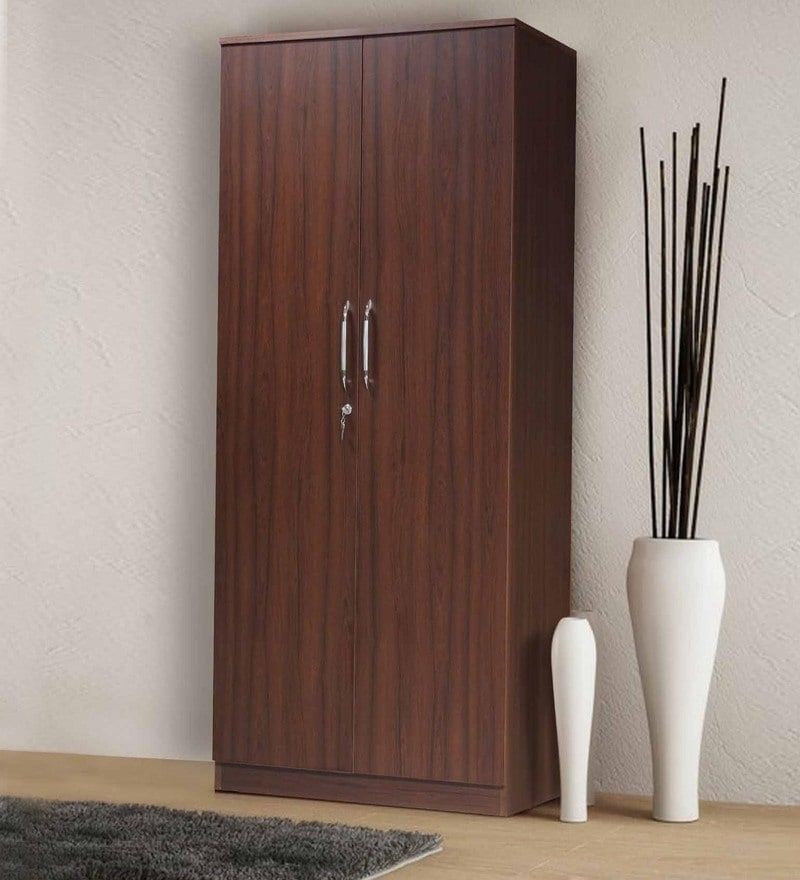 Well Liked Black Wardrobes In Buy Grafton Two Door Wardrobe In Natural Pine & Black Finish (View 15 of 15)