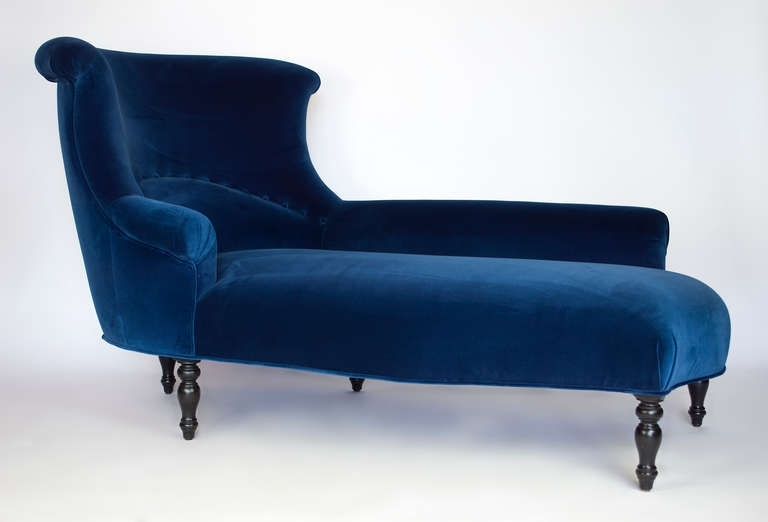 Well Liked Blue Chaise Lounges Regarding Great Blue Chaise Lounge Napoleon Iii Chaise Longue At 1stdibs (View 2 of 15)
