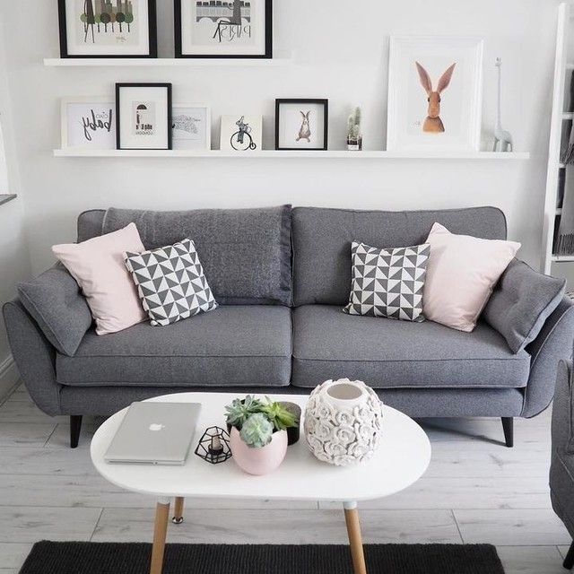 Well Liked Charcoal Grey Couch Light Grey Sofa Decorating Ideas Living Room For Charcoal Grey Sofas (View 8 of 10)