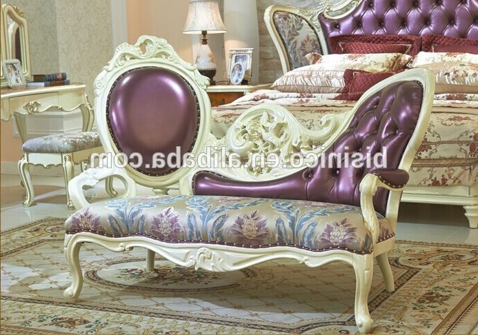 Well Liked European Chaise Lounge Chairs Intended For European Style Bed End Stool,beautiful Designed Wood Carved Chaise (View 15 of 15)