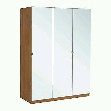 Well Liked Ikea Pax Double And Single Wardrobes Oak Effect Mirror Doors (View 14 of 15)